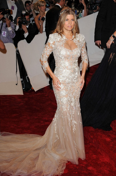 "Fergie at the ""Alexander McQueen: Savage Beauty"" Costume Institute Gala held at The Metropolitan Museum of Art on May 2, 2011 in New York City."