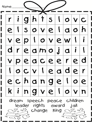 ... Jr Word Search Puzzle. on easy martin luther king jr word search