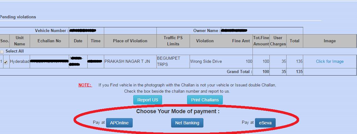 eChallan Payment