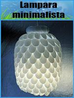Tutorial: Lampara minimalista con botellas y cucharas de plástico