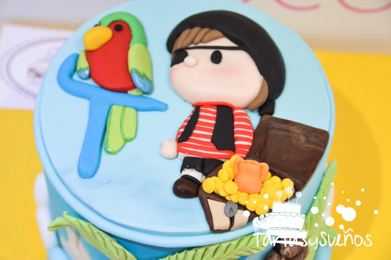 Tartas y sueños: La tarta pirata para el cumpleaños de Marcos
