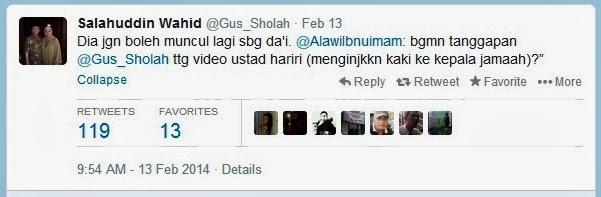 Gus Sholah Larang Ustadz Hariri Muncul Lagi sebagai Dai