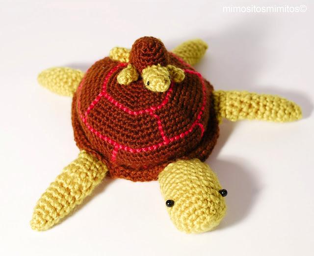 Chelonia tortuga marina en crochet ganchillo amigurumi