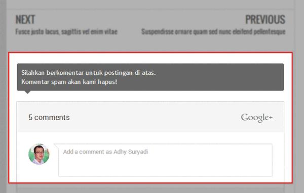 Mengganti Komentar Blogger Jadi Komentar Google+ Responsive