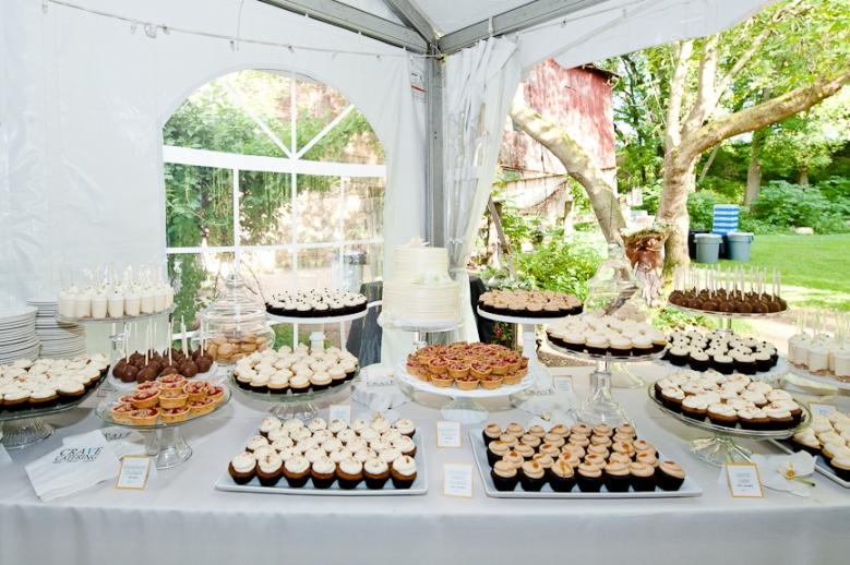 Cocoa fig elegant outdoor wedding dessert table maggie and michael minnesota outdoor wedding dessert table junglespirit Images