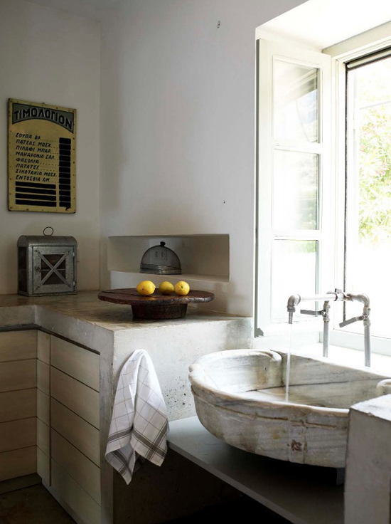 Rustic Kitchen Sink Vangelis Paterakis
