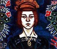 autorretrato de Olga Rozanova. (Rusia1886-1918)