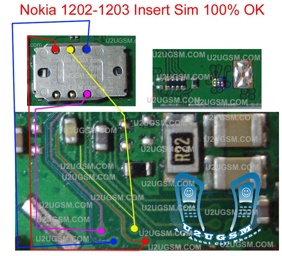 Perlu anda ketahui bahwa ponsel nokia 1202 itu memakai Ic sim,jadi