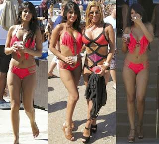 Jasmin Walia Red Bikini Las Vegas