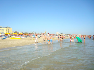The beach at Rimini