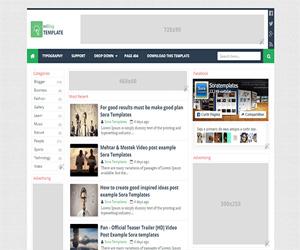 Template Blogspot đơn giản dành cho quảng cáo adsense