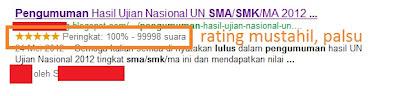 Amankah Membuat Rating Bintang 'Palsu' di Google Pencarian?