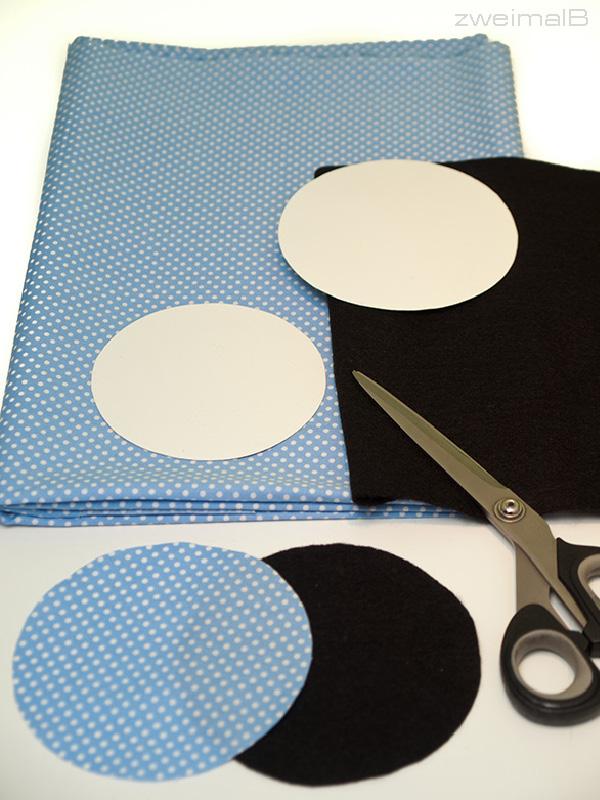 :: zweimalB :: DIY Anleitung für Glückskekse - notwendiges Material: Baumwollstoff und Filz