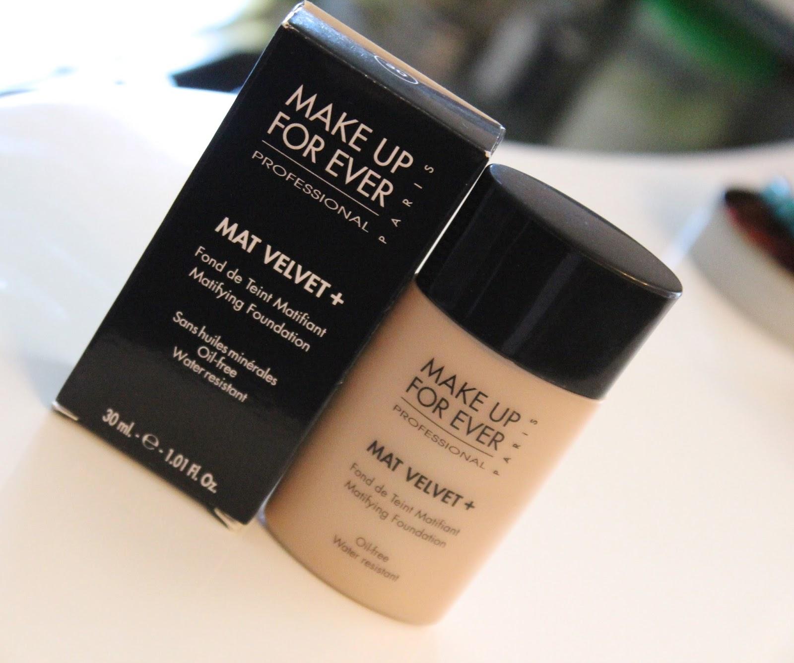 Make Up For Ever Mat Velvet + tekući puder