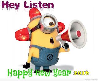 Gambar Ucapan Tahun Baru Minion Lucu 2016 Funny Happy New Year 2016