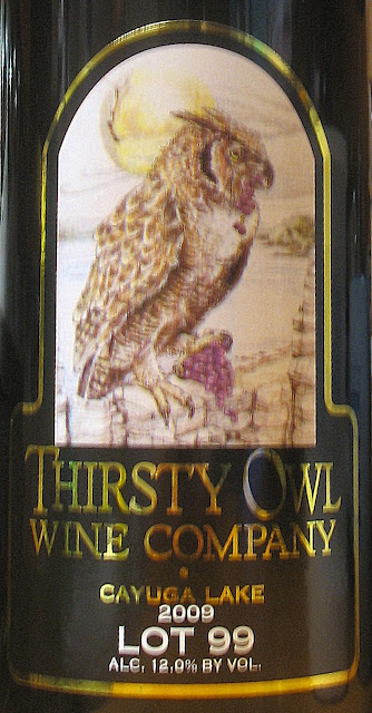The label of Thirsty Owl Wine Company Lot 99