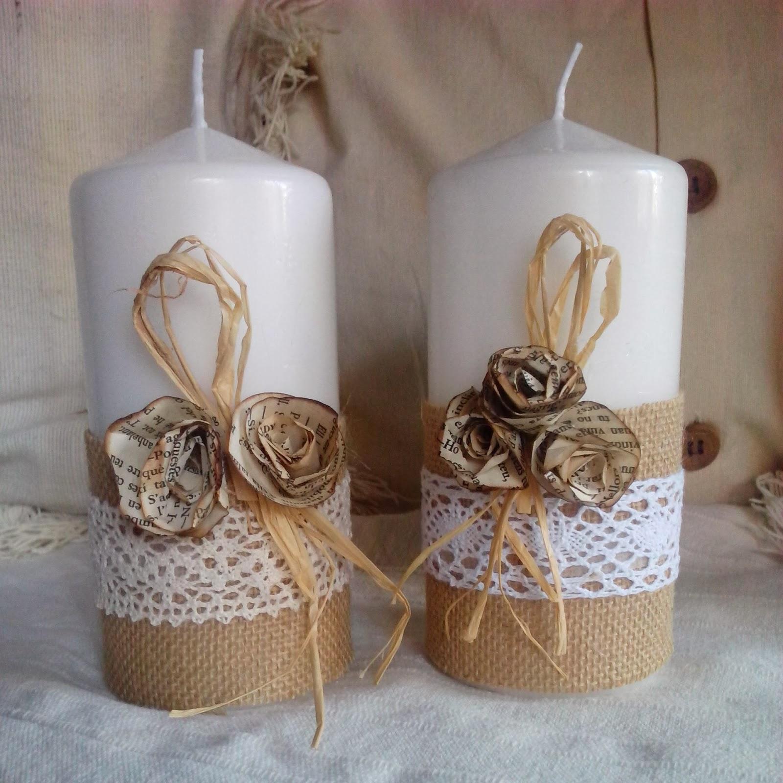 Azulin y azulon velas decoradas - Adornos de nadal ...