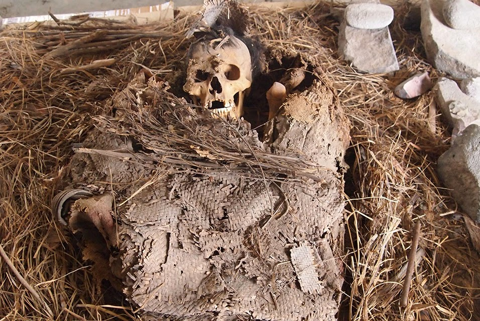 Pre-Hispanic mortuary bundle found in the Mexican State of Hidalgo