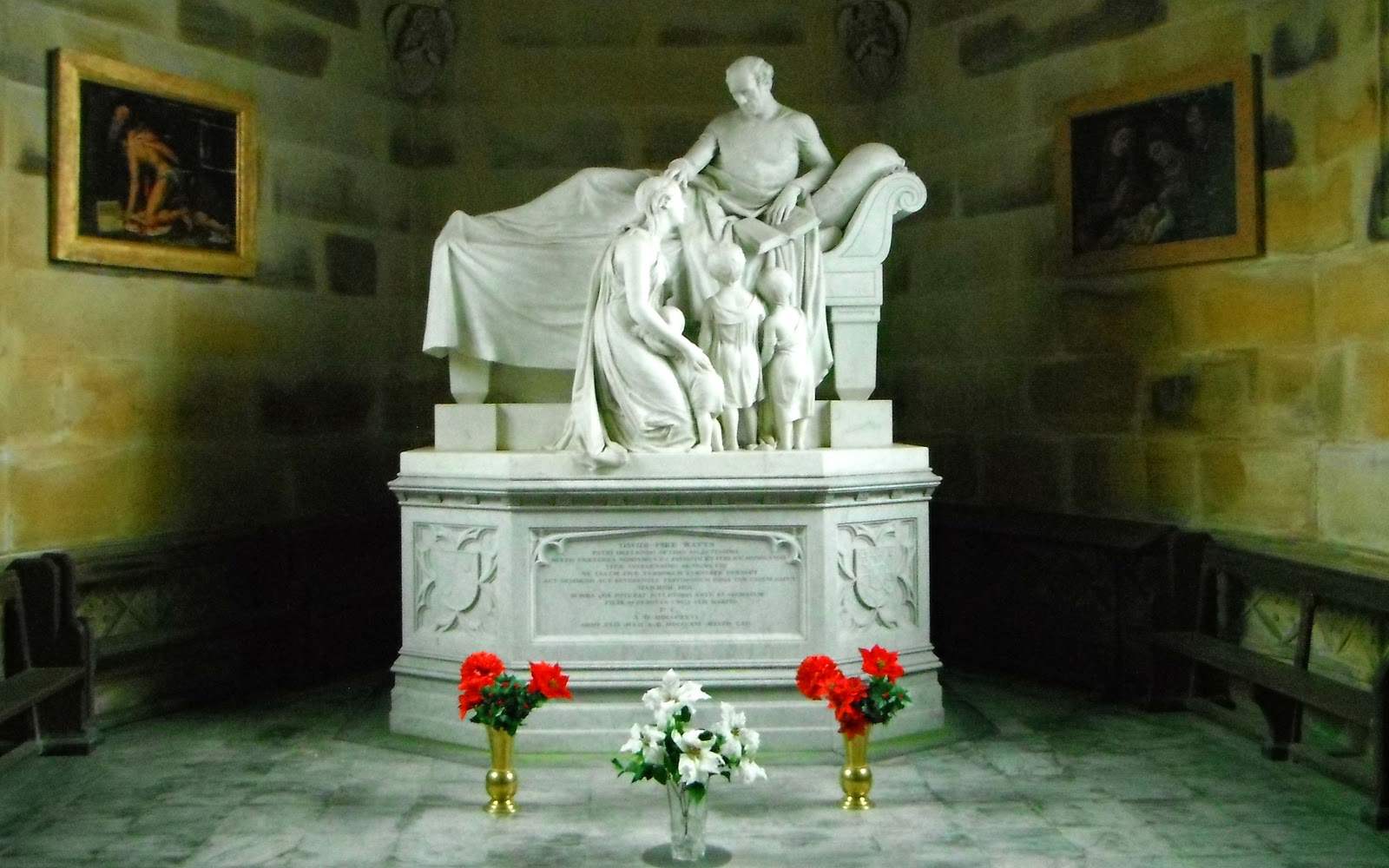 Tomb-sculpture by Francis Chantrey at Ilam