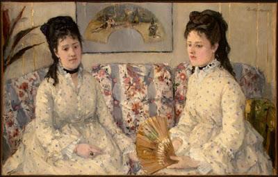 Berthe Morisot  Deux soeurs sur un canapé - 1869