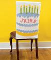 Cobertor de silla para cumpleaños