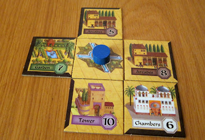 Alhambra - Ben's Alhambra midway through the game