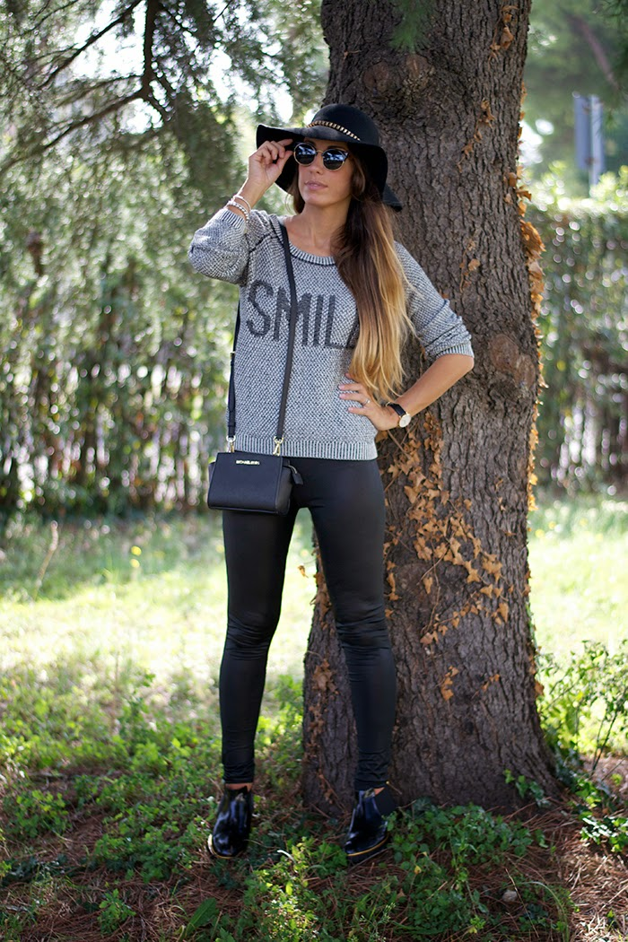 outfit leggings ecopelle
