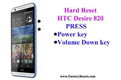 Hard Reset HTC Desire 820
