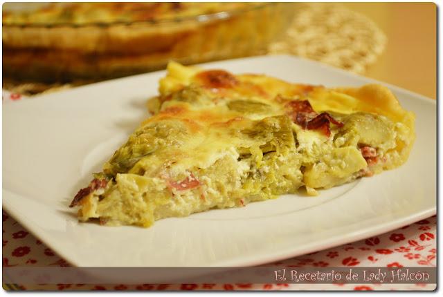 http://www.elrecetariodeladyhalcon.es/2013/08/menu-3-quiche-de-alcachofas-y-jamon-y.html