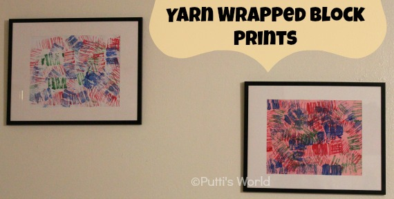 Stamping/ Printing for Kids Yarn Wrapped Block Prints