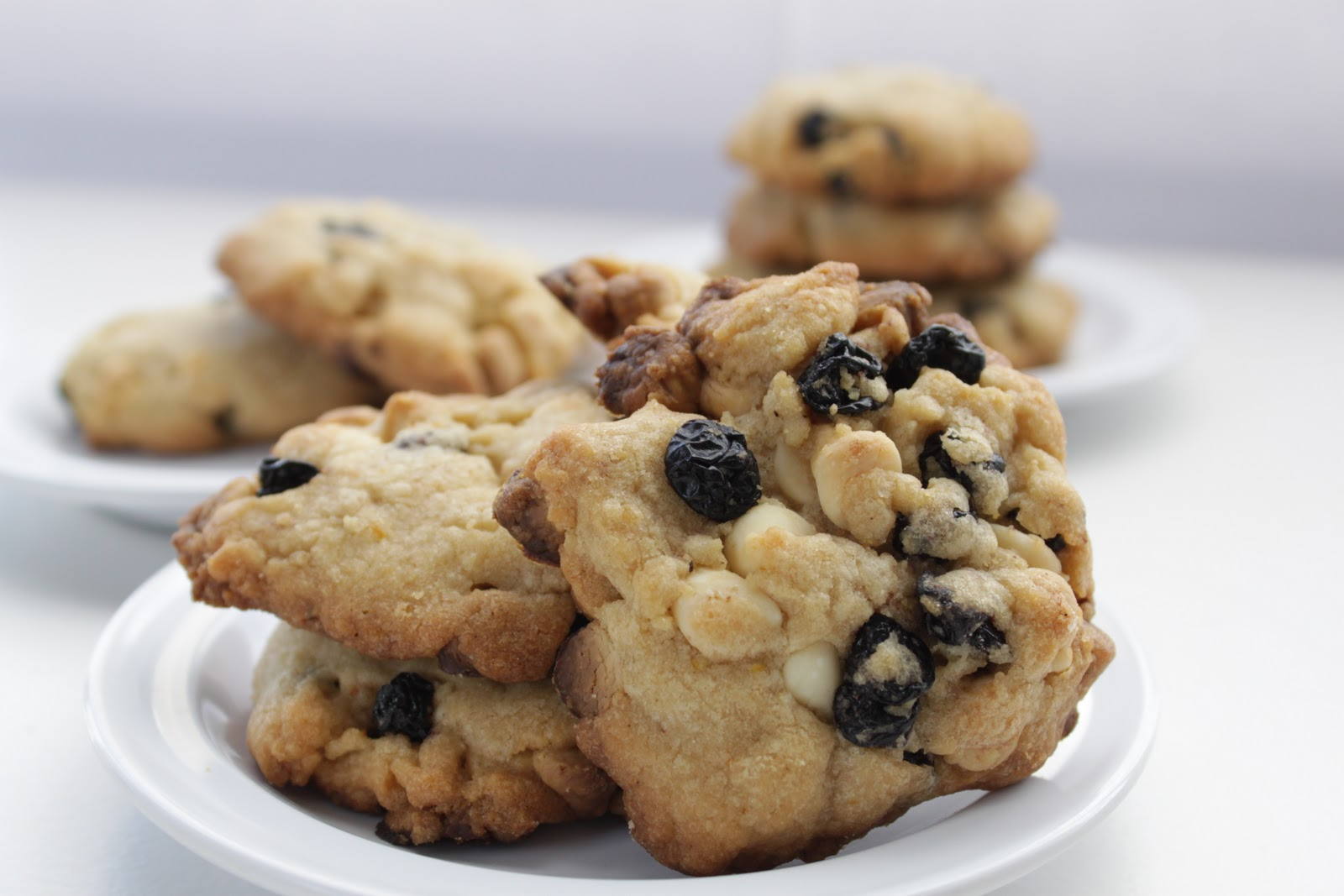 Blueberry And White Chocolate Chip Jumbo Cookie Recipe — Dishmaps