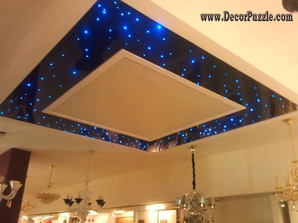 combined ceiling starry sky lights best ceiling design ideas - Ceiling Design Ideas