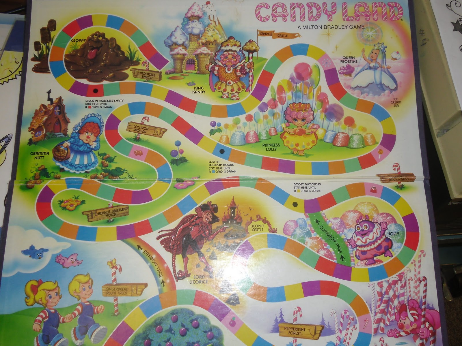 Candyland Board Template Candyland gameboard...to