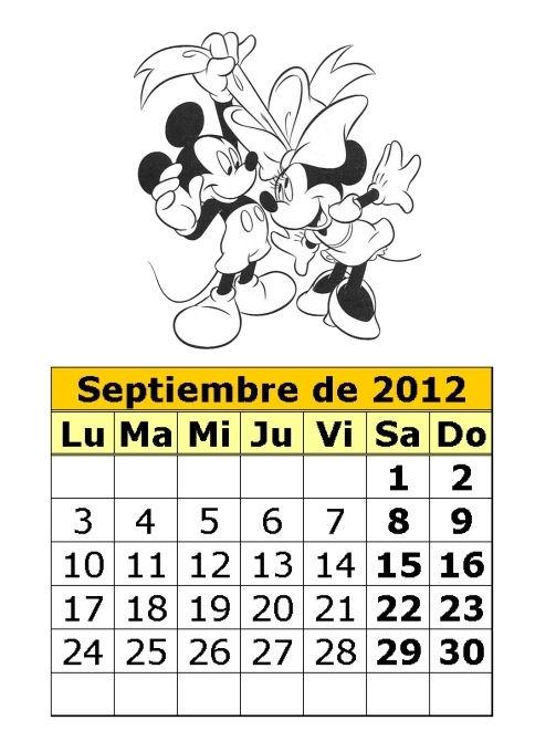 En 06 30 Etiquetas Calendarios 2012 Calendarios De Disney Calendarios