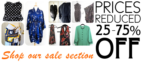 Shop our vintage clothing and accessories on sale