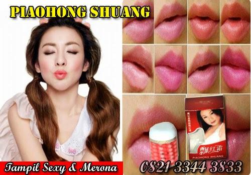 Piaohong Shuang Adalah Obat Pemerah Bibir Dari Gel Lembut Yang Berkhasiat Membuat Area Bibir,Puting Dan Area Vagina Merah Merona.