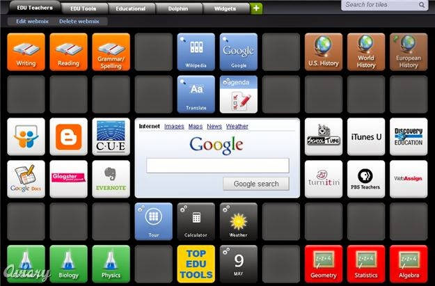 Image of Symbaloo Setup