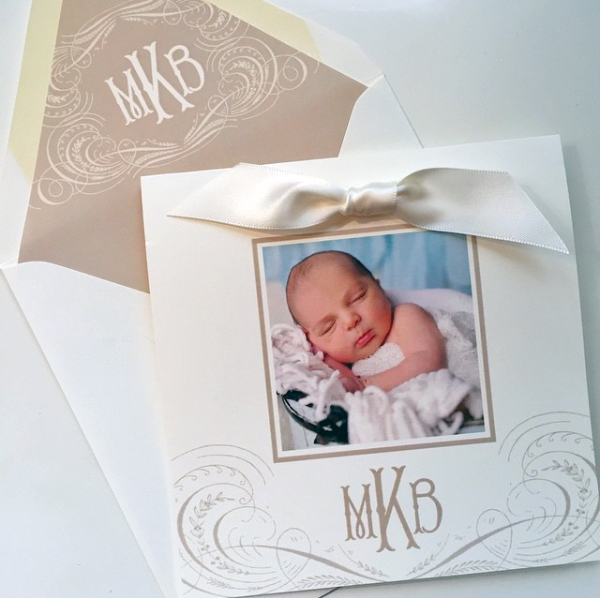Elegant Custom Birth Announcement