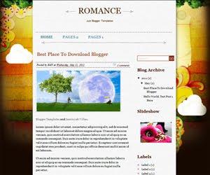 Romance Blogger Template