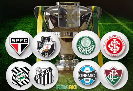 Definida as quartas de final da Copa do Brasil 2015 (Arte: Globoesporte.com)