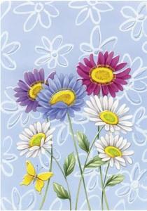 ramos de margaritas  Etiquetas para regalos de flores