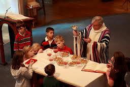 Kids at altar