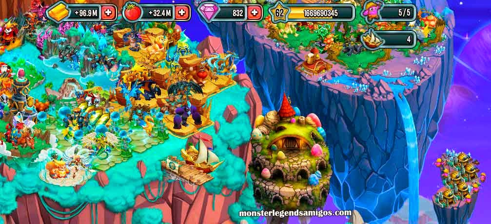 imagen de la isla de pascua de monster legends