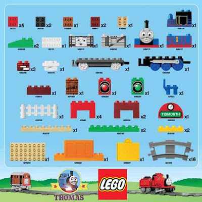 Cool basic Duplo Thomas tank Lego model assortment of toy brick construction parts 61 blocks for fun