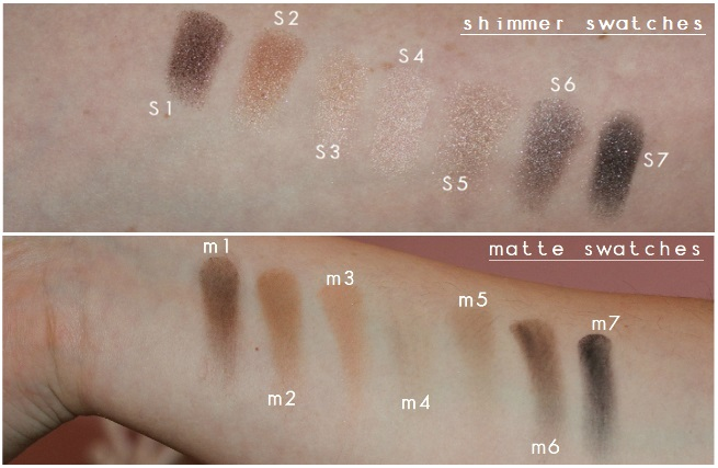 brown shadow swatches