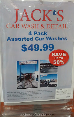 Treat your car to something special with Jack's Car Wash 4 Pack Assorted Car Washes
