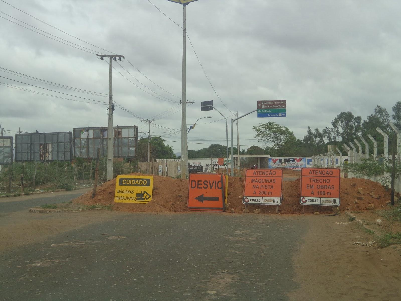 Obras de acesso ao aeroporto de Juazeiro do Norte.