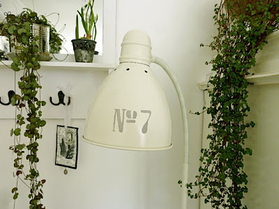 Garden and Angels: Lampe med sjablong ...