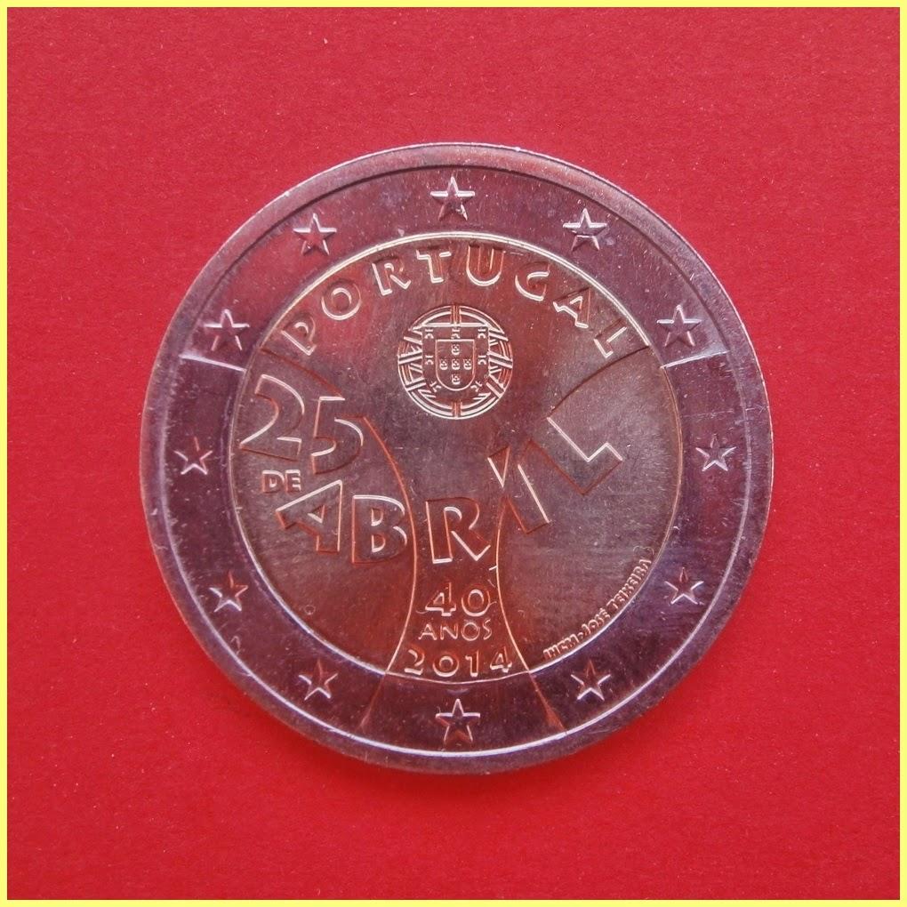 2014 Portugal Revolucion Claveles 2 Euros