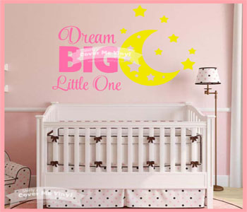 Dream Big Little One Moon Decal